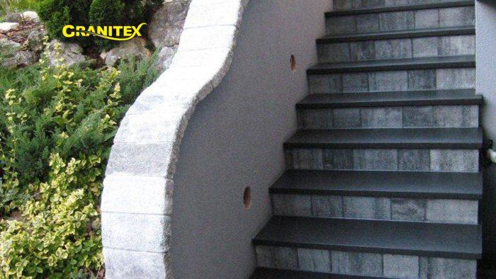 zunanje kamnite stopnice